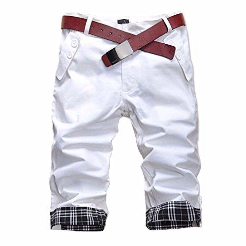 QIYUN.Z Summer Fashion Slim Sport Decontractes Pour Hommes Recadree Pantalons Courts Nouveaux Shorts Coreen