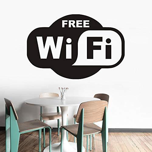 mlpnko Abnehmbarer Bereich Vinyl Wandaufkleber abnehmbare Wandbild Restaurant Schaufenster Logo,CJX10463-63x42cm
