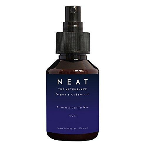 Aftershave für Männer I NEAT Aftershave 100ml I mit ZEDERNHOLZÖL & TEEBAUMÖL I Beruhigt & erfrischt gereizte Haut I natürliche Inhaltsstoffe I Gegen Rasierpickel & gut bei empfindlicher Haut