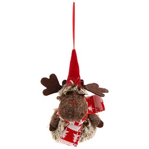 GARNECK Ornamenti di Renne di Peluche Ornamenti Decorativi Appesi di Natale Ciondolo Bambola di Alce per Decorazioni da Appendere Festival di Finestre Camino a Muro