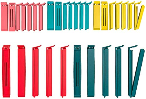 Ikea 10339171 Bevara Sealing clip assorted colors assorted sizes 30pack Color