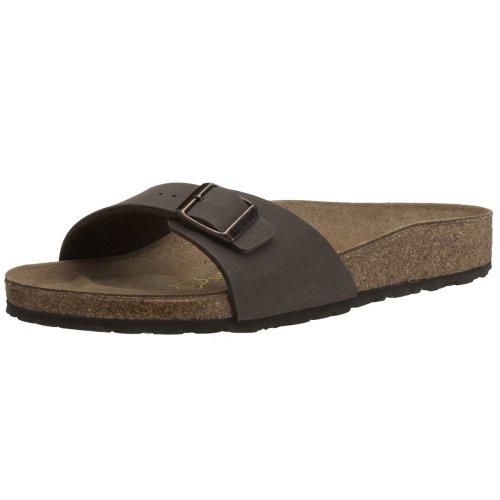 Birkenstock Schuhe Madrid Birko-Flor Nubuk Normal Mocca (040091) 37 Braun