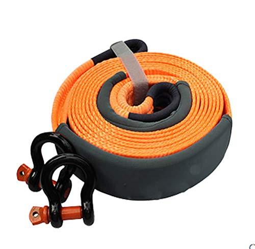 Qinuo Abschleppseil, Auto Abschleppseil 9M Starterkabel 5Ton Lastung Mit Mit Rutsch Handschuhe Und Aufbewahrungstasche,Orange