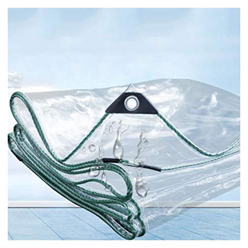 ALGWXQ Lona Transparente con Ojales Paño de Lluvia para Balcón Durable Usado para Techo Coche Cámping Jardín Mueble Planta Anticongelante Proteccion, 2 Espesores, 20 Especificaciones
