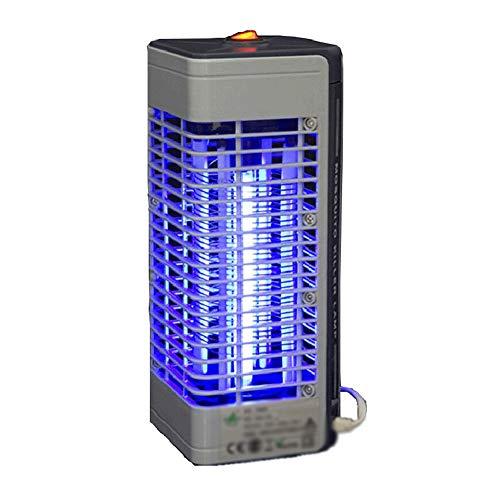 Lampada Anti Zanzara-Alta Pressione Elettrica Lampada Anti-zanzara con Lampada UV Usato per Neonati, Bambini, Incinta JINRONG (Colore : Gray)