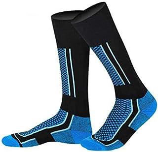 Kenyaw, Kenyaw Wicking Cojín Transpirable Anti Blister Calcetines Casuales para Equipos Al Aire Libre Multi Rendimiento Senderismo Trekking Caminar Calcetines Atléticos Calcetines De Esquí (Azul-Negro/Niño)