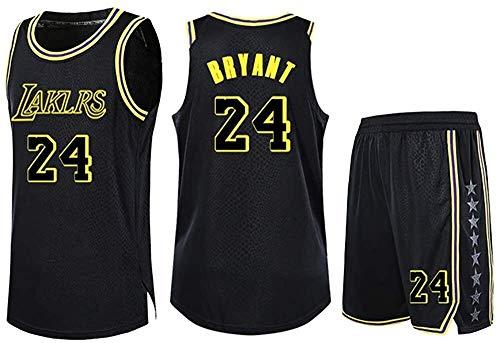 Se utiliza for Kobe Bryant No.24 Los Angeles Lakers aficionados pieza dos trajes adolescentes Deportes Niños Niñas Blue Ball jerseys camisa de los niños del chaleco + tapa del verano los cortocircuito