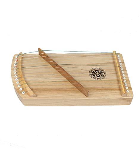 N /A Guzheng, Mini Guzheng, Guzheng Finger Trainer mit Zubehör, Protable, Größe: 40 x 21 cm, 13 Streicher, Geeignet for Anfänger, Erwachsene, Kinder,