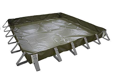 AIRE Industrial A911-101012E Portable Ultra Economy Containment Quick Snap Berm, 10'L x 10'W x 1'T