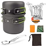 <span class='highlight'>Barbecue</span> <span class='highlight'>tool</span> set Camping Cooking Set with Mini Stove Outdoor Cook Equipment for 1-2 Persons Non Stick Aluminum Durable Pot Pan for Outdoor Picnic Hiking BBQ