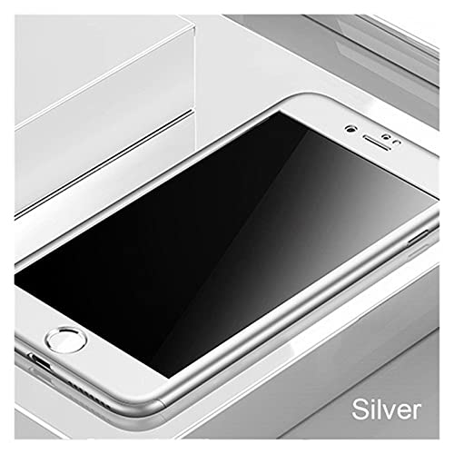 360 Cajas de teléfono Completo con Vidrio para iPhone 12 11 Pro MAX XR XS X Funda Protectora para iPhone SE2020 8 7 6 6S Plus 5s Cover (Color : Silver, Material : For iPhone 12 Pro)