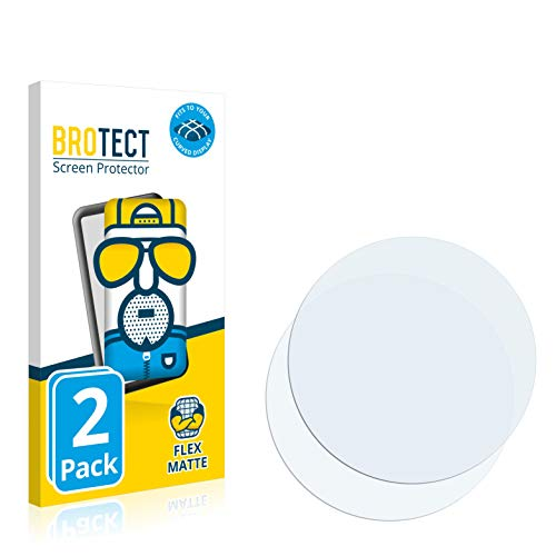 BROTECT Full-Cover Schutzfolie Matt kompatibel mit Fossil Q Wander 2.0 (2 Stück) - Full-Screen Bildschirmschutz-Folie, 3D Curved, Anti-Reflex