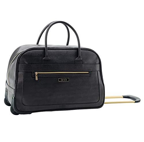 kensie Women#039s Helena 19Inch Rolling Duffel Bag Black
