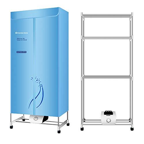Concise Home Tres Capas Secador eléctrico 1500 W de Gran Capacidad 15 kg InoxidableAhorro de energía Ropa húmeda de Interior Aire Caliente Secado Armario