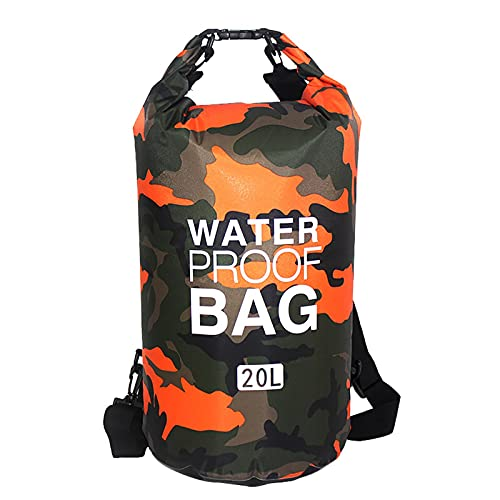 biteatey Mochila impermeable de 20 l/30 l, bolsa de camuflaje impermeable IPX6, bolsillos con correas ajustables para el hombro, bolsillo seco para kayak, canoa, camping, piscina, rafting y vela