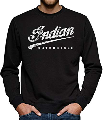 Indian Motorcycle American Bikers Logo Blanc Sweat a Capucha Unisex Large