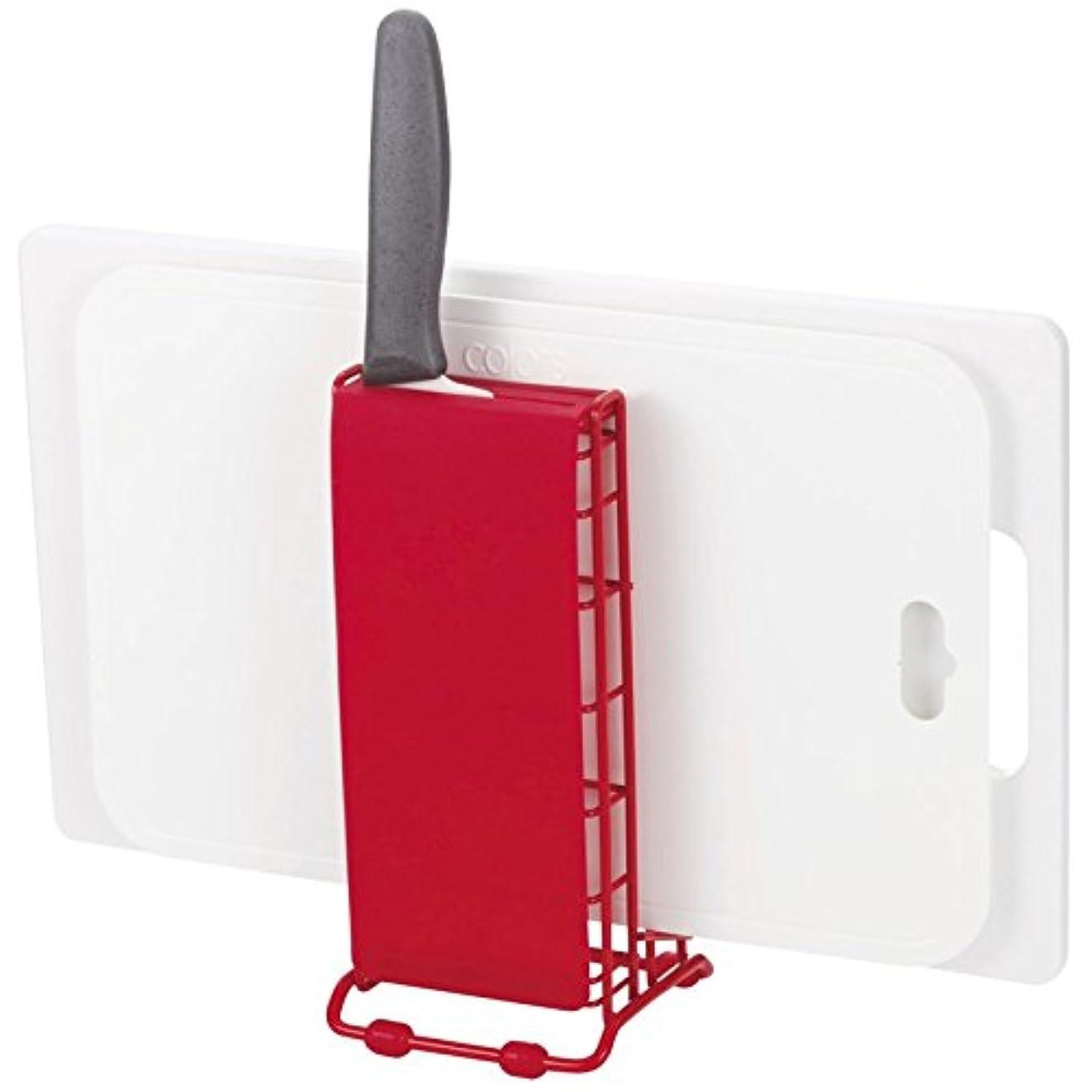 マウスピースヘッジすみませんリバティーコーポレーション 包丁?まな板スタンド レッド 10.5×10cm Style+2 LC-733