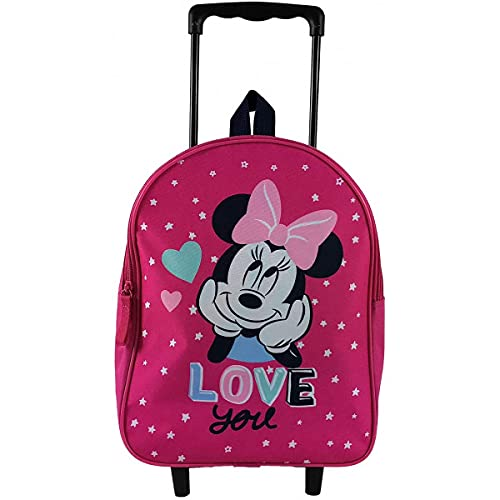 ZAINO A TROLLEY PRINGINELLA 31 CM Disney Minnie Rosa Bagtrotter