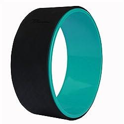 Timberbrother Yoga-Wheel / Yoga-Rad zur schonenden entlastung ihrer Wirbels?ule, Verbesserung der Flexibilit?t bei Yoga¨¹bungen, Durchmesser 33cm (Schwarz/ Gr¨¹n)