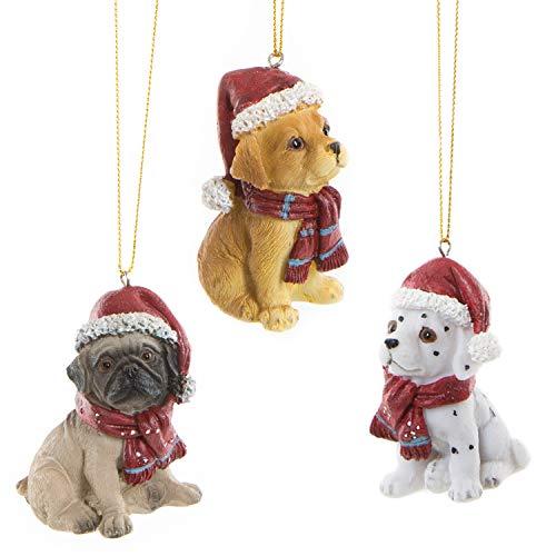 Logbuch-Verlag 3 pequeñas figuras de perros con cuerda para colgar, decoración navideña para los...