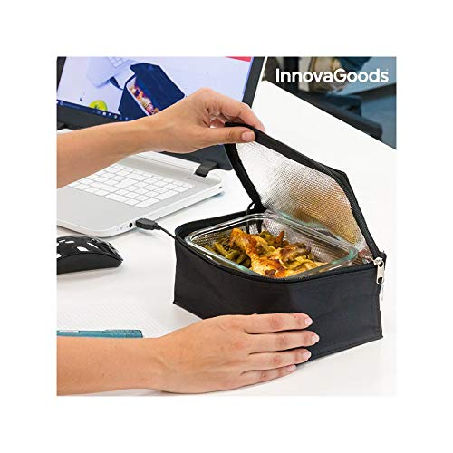Innovagoods bb_V0100996 Bolsa Térmica Usb Para Fiambrera, Negro