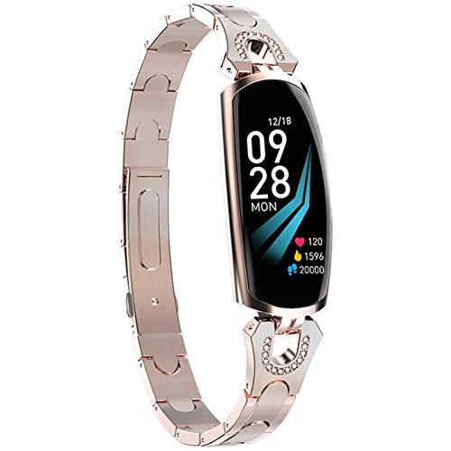 LVF AK16 Mujeres Aptitud Pulsera Bluetooth Tarifa Cardíaca Presión Arterial Fitness Tracker Impermeable Smart Watch para Android iOS,C