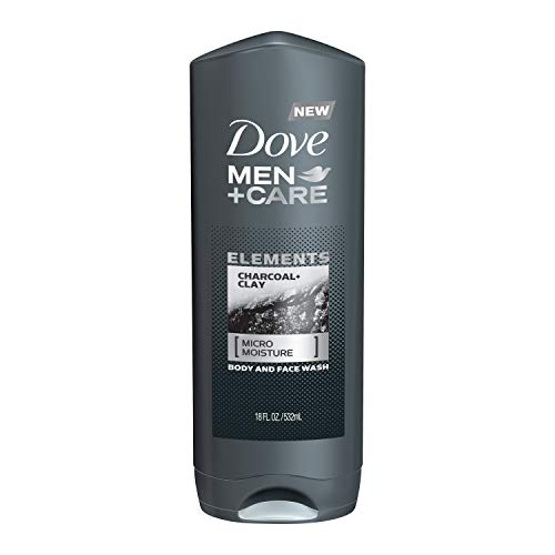 Dove Men+Care Elements Body Wash Charcoal+Clay 18 oz Effectively Washes Away Bacteria While Nourishing Your Skin