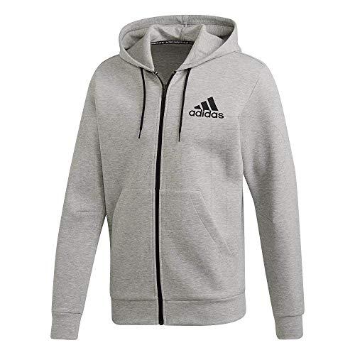 adidas Herren Must Haves FZ Hoodie, Medium Grey Heather, 2XL