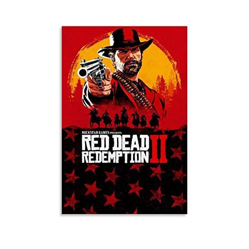 HULANG Póster de Red Dead Redemption 2 Xbox de 40 x 60 cm