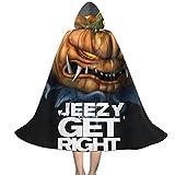 YRUI Young-Jee-Zy Get Right - Capa con capucha para niños, disfraz de Halloween, color negro