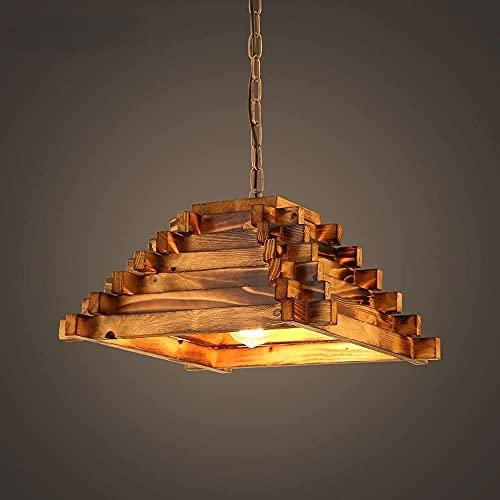 YLJYJ Lámpara Colgante, lámpara de Techo Vintage de 1 Llama con diseño Industrial, lámpara Colgante Retro Hecha de Luces de Techo
