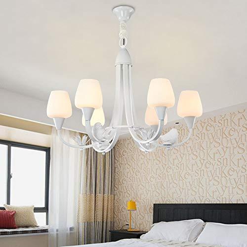 Kroonluchter, cartoon birdie Simple Nordic Retro woonkamer slaapkamer kinderkamer 6 kroonluchter binnenverlichting