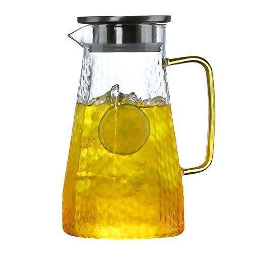 Hamer Koud Water Fles Glas Hoge Temperatuur Verdikking Grote Capaciteit Waterfles Set Koel Wit Open Explosiebestendige Ketel TONGTONG SHOP-10.13