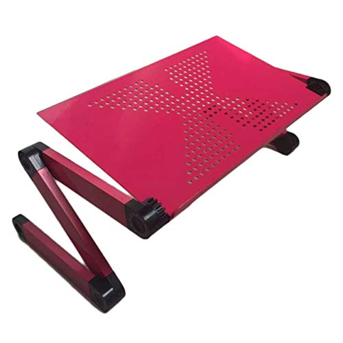 Portable Folding Aluminum Alloy Laptop Computer Notebook Table Laptop Stand Desk Bed Tray Enjoy Fun In Bed Sofa Table(red) Jasnyfall