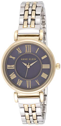Anne Klein Women's AK/2159NVTT Two-Tone Bracelet Watch