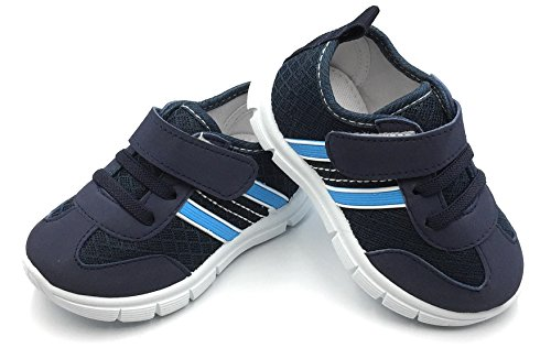 Bless Children Baby Toddlers Boy's Girl's Breathable Fashion Sneakers Walking Running Shoes,Navy1209.Size 4