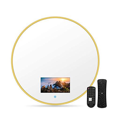 Smart Touch TV da bagno, Smart TV impermeabile con specchio 40/60 cm con Wi-Fi, altoparlanti integrati (Android 10.0), on-demand online, trasmissione dal vivo, può giocare, con WIFI,40*40cm