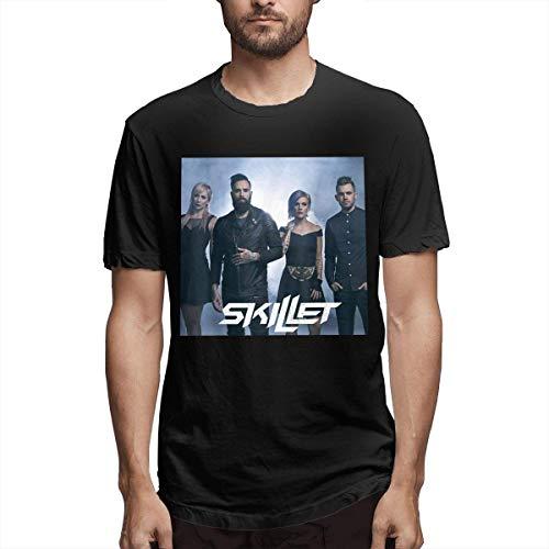 QIAOJIE Skillet Band Man T Shirts Lässiger Modetrend
