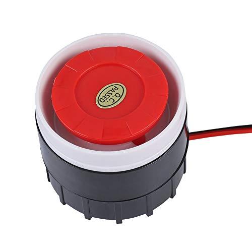 Tosuny DC 12V con conexión de Cable Mini Sirena de Sirena 120 dB Sistema de Alarma con Sonido de Sirena de Advertencia para Seguridad del hogar, Rojo