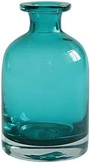Whthteey Glass Flower Bud Vase Home Decor Blue Bottle Decorative Art for Home Wedding Party