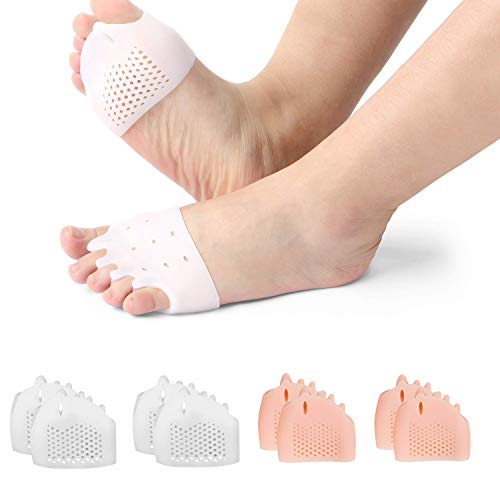 (8PCS) Ball of Foot Cushions, Metatarsal Pads/Cushion,Bunion Corrector,Forefoot Cushions Best for Metatarsal Pain & Diabetic Feet,Bunion/Forefoot Pain Relief - for Men & Women.