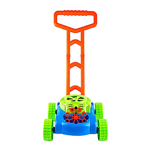 GSusan Tank Bubble Machine Children's Lawn Mower Automatic Bubble Lawn Machine with Music Sound Children's Educational Toy