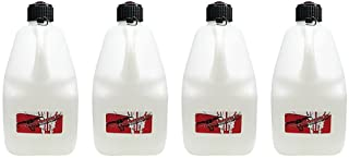 Pit Posse 754810 VP Type White 5 Gallon Race Utility Jug Can Jerry Container Racing IMCA NHRA SCC Motocross - Made In the ...
