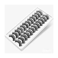 ZRBH 3Dつけまつげ手作りの自然の12/20ペア/密ナチュラルつけまつげ小束構成拡張ツール (Color : 1205)