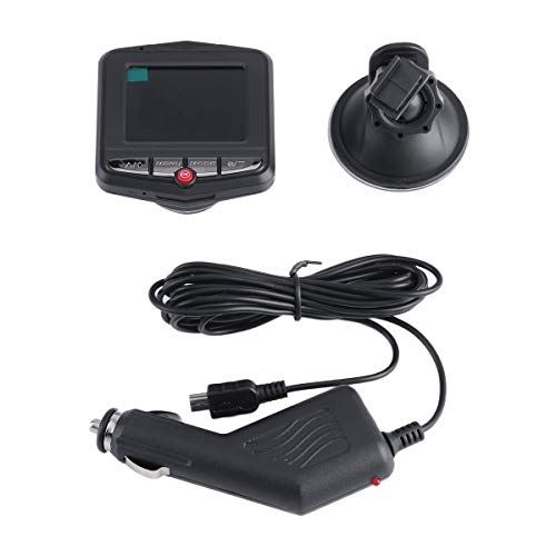 Greatangle-UK Universal 2.4 Pulgadas Full HD Lens 1080P Car Auto Videocámara DVR Vehículo Cámara Grabadora de Video Dash CAM G-Sensor Negro