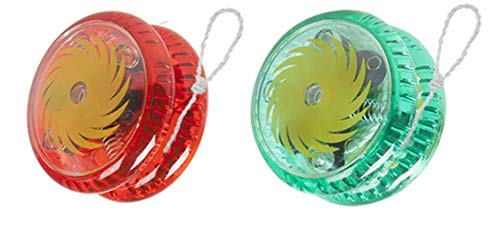 PACK OF 2 YOYO MAGIC SPINNER TRICK KIDS GAME WHEEL AUTO LIGHT UP/CLUTCH TRICK WITH STRING