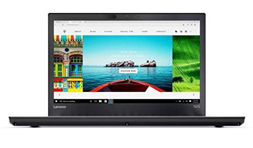 "Lenovo T470 14"" FHD, Intel i7-6600U 2.6GHz, 16GB RAM, 256GB SSD, Camera, Webcam, Windows 10 Pro 64(Renewed)"