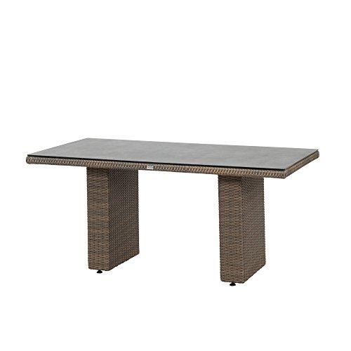 Siena Garden Dining Tisch Teramo, 160x90x74cm, Gestell: Aluminium, pulverbeschichtet, Fläche: Gardino-Geflecht in bronze,Tischplatte: Spraystone