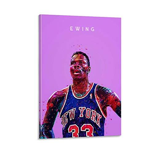 ZXCQWE NBA Patrick Ewing - Póster artístico de pared (40 x 60 cm)