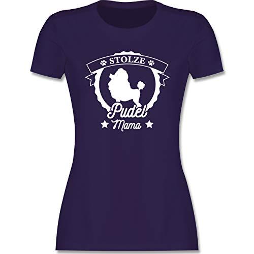 Hunde - Stolze Pudel Mama - L - Lila - l191_Shirt_Damen - L191 - Tailliertes Tshirt für Damen und Frauen T-Shirt
